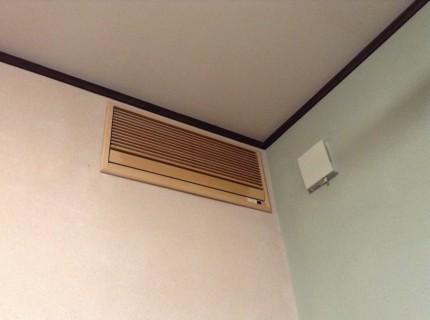 壁埋め込みエアコンの分クリーニング