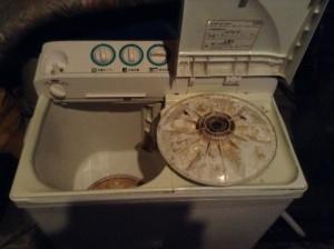二層式洗濯機のクリーニング