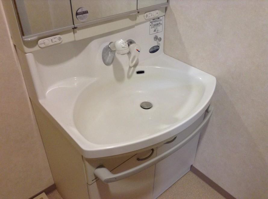 洗面台の分解洗浄