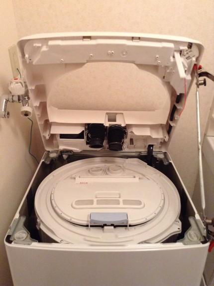 AQUA洗濯機の分解洗浄