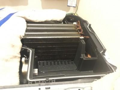 乾燥ヒーター部分の高圧洗浄
