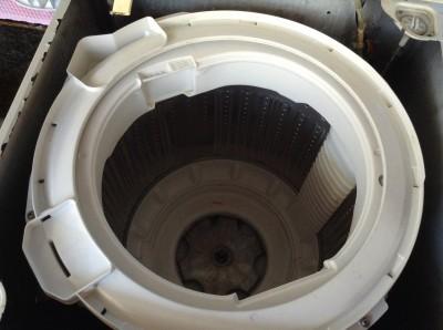 ナショナルの洗濯機分解洗浄