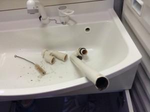 排水パイプの洗浄