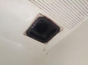 浴室換気扇カビ汚れ除去
