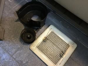 浴室換気扇の分解洗浄